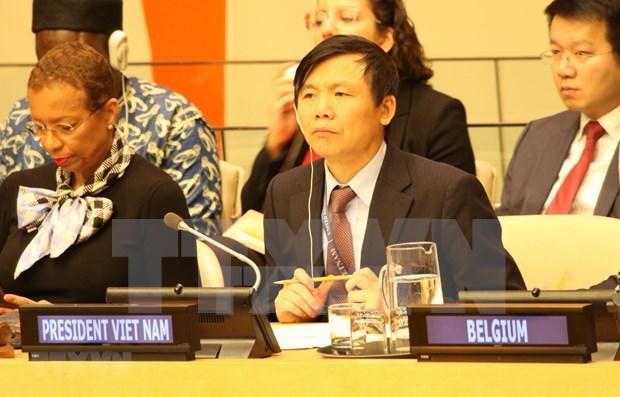 Vietnam cumple con exitos papel de presidente del CSNU en enero hinh anh 1