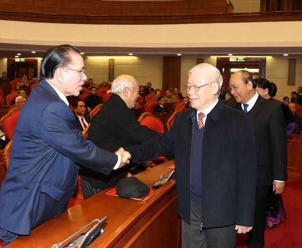 Se reune Buro Politico con exaltos dirigentes del Partido Comunista y Estado de Vietnam hinh anh 1