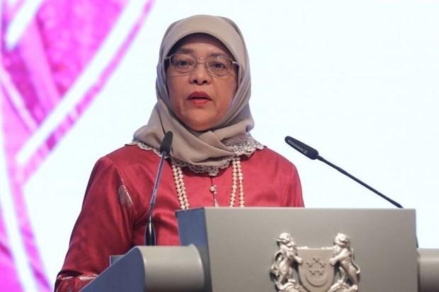 Realizara presidenta de Singapur su primera visita estatal a Indonesia hinh anh 1