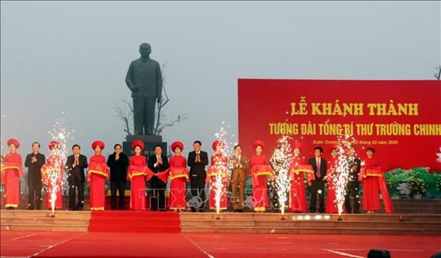 Inauguran en provincia vietnamita estatua de exsecrectario general del Partido Comunista hinh anh 1