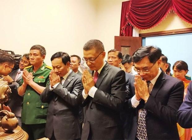 Comite del Partido Comunista de Vietnam en Camboya rinde homenaje a Ho Chi Minh hinh anh 1