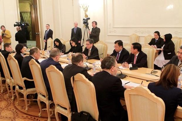 Promueven Rusia y ASEAN asociaciones estrategicas hinh anh 1
