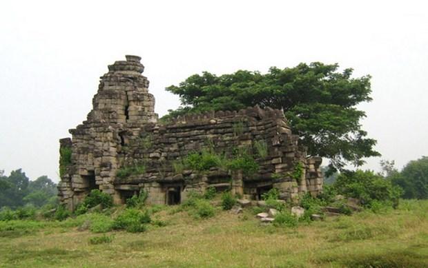 Hallan antigua estatua del leon en complejo de templos de Camboya hinh anh 1