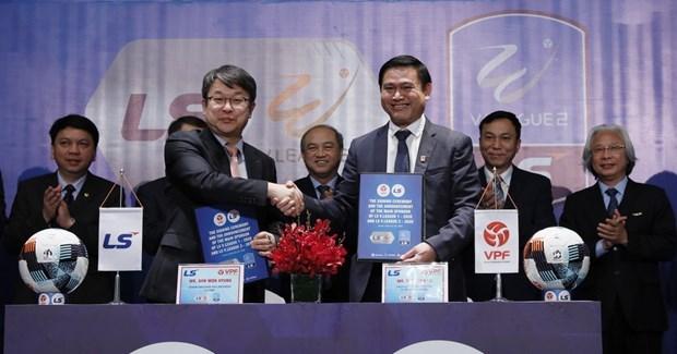 Patrocina grupo sudcoreano ligas vietnamitas de futbol hinh anh 1