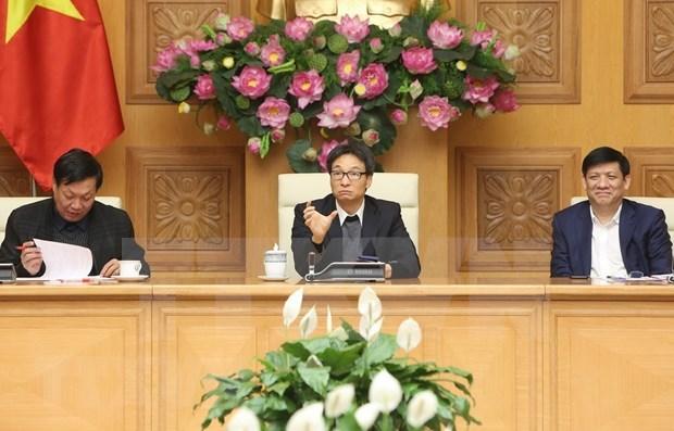 Vicepremier vietnamita pide reforzar control sanitario para frenar expansion de coronavirus hinh anh 1
