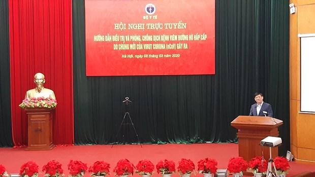 Efectuan en Vietnam conferencia en linea entre hospitales sobre lucha contra el nCoV hinh anh 1