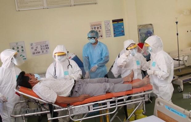Ciudad vietnamita pone en funcionamiento hospital de campana para hacer frente a coronavirus hinh anh 1
