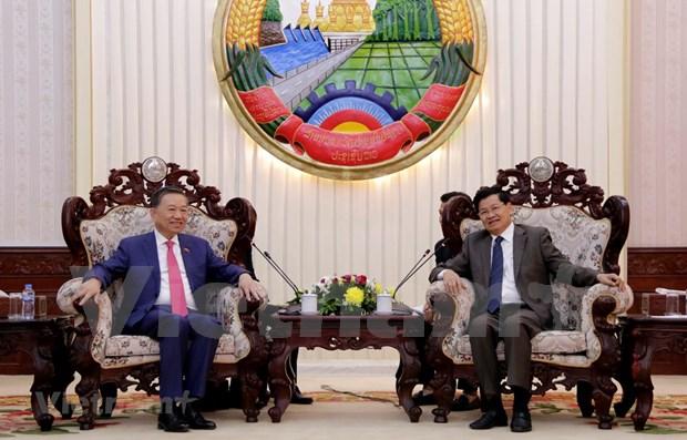 Fortalecen Vietnam y Laos vinculos en seguridad hinh anh 1