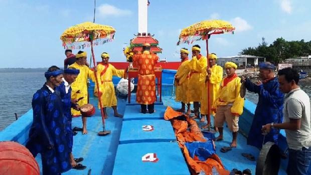 Celebran en Quang Nam festival dedicado al dios de los peces hinh anh 1