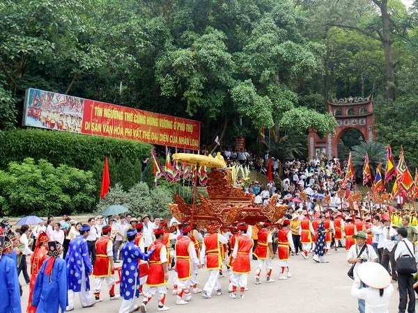 Celebraran en Vietnam fiesta en honor a los reyes Hung hinh anh 1