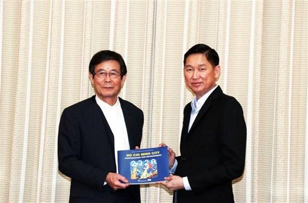 Refuerza Ciudad Ho Chi Minh vinculos con prefectura japonesa hinh anh 1
