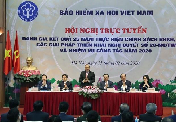 Destaca premier contribuciones del Seguro Social de Vietnam a la garantia del bienestar de los ciudadanos hinh anh 1