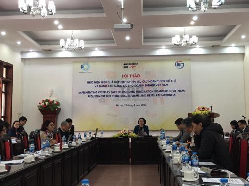 Debaten en Hanoi perfeccionamiento institucional para implementacion de Acuerdo Transpacifico hinh anh 1
