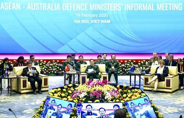 Celebran reunion extraoficial de ministros de Defensa ASEAN-Australia hinh anh 1