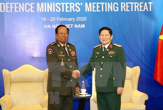 Cooperacion en defensa, pilar de nexos Vietnam-Camboya hinh anh 1