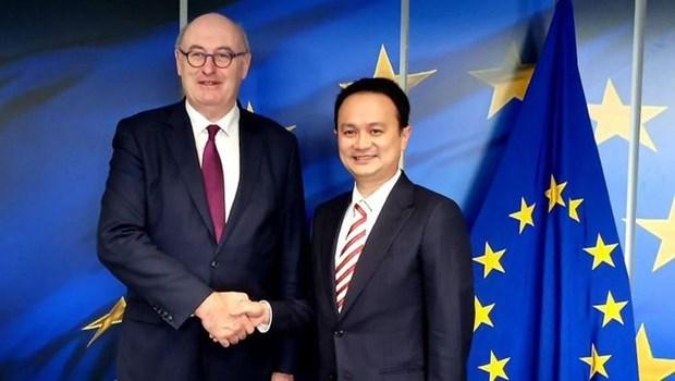 Indonesia y UE completaran negociones sobre acuerdo economico en 2020 hinh anh 1