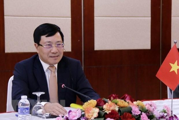 Cancilleres de ASEAN debaten medidas contra epidemia de nuevo coronavirus hinh anh 1