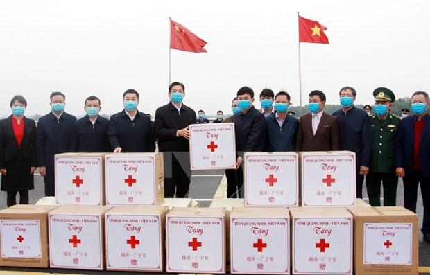 Provincia vietnamita apoya a su similar china en lucha contra COVID-19 hinh anh 1