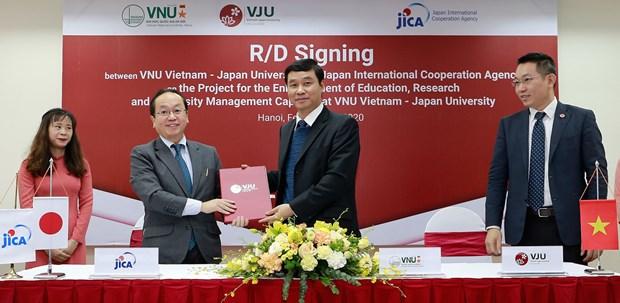JICA ofrece asistencia para mejorar ensenanza e investigacion de Universidad Vietnam-Japon hinh anh 1
