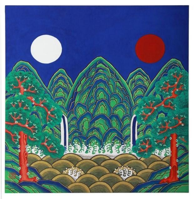 Exhiben en Hanoi pinturas tradicionales surcoreanas hinh anh 1