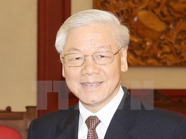 Dirigentes vietnamitas felicitan al emperador japones en ocasion de su cumpleanos hinh anh 1