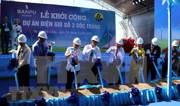 Comienza construccion de planta de energia eolica en provincia vietnamita de Soc Trang hinh anh 1