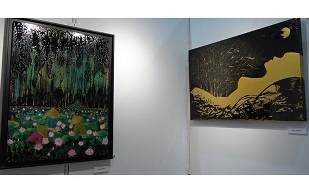 Exhiben pinturas de artistas de origen vietnamita en Francia hinh anh 1