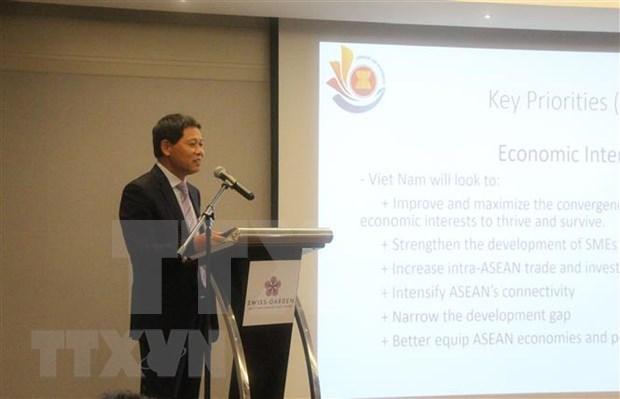 Promueve Vietnam la unidad de la ASEAN hinh anh 1