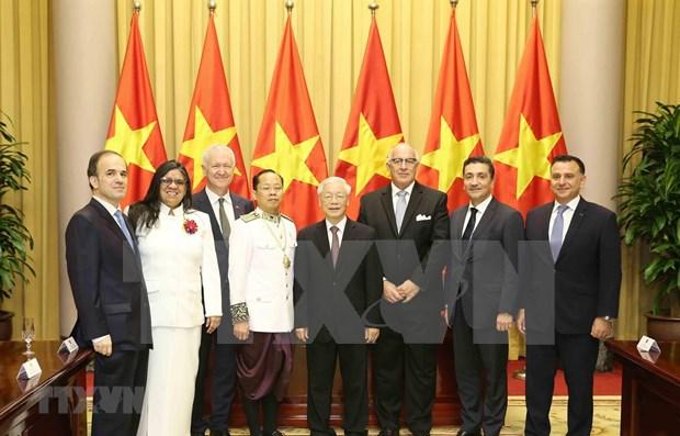 Recibe maximo dirigente de Vietnam a nuevos embajadores extranjeros hinh anh 1