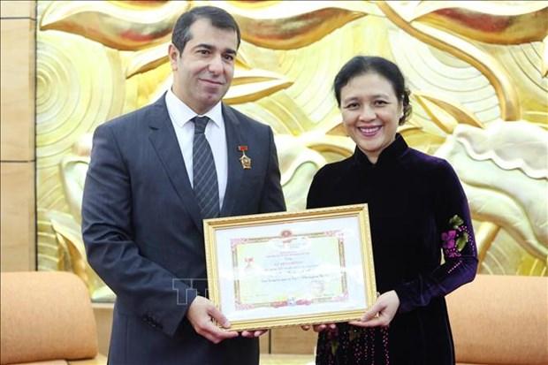 Destacan labor del embajador de Azerbaiyan en Vietnam hinh anh 1
