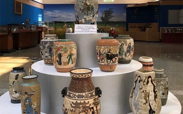 Exhiben objetos antiguos en la provincia vietnamita de An Giang hinh anh 1