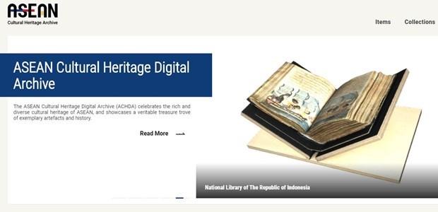 ASEAN lanza sitio web del Archivo Digital del Patrimonio Cultural hinh anh 1