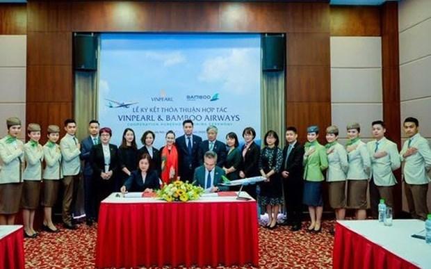 Bamboo Airways y Vinpearl desarrollan productos aereo-turisticos hinh anh 1