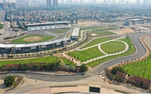 Completan construccion de pista de F1 en Hanoi hinh anh 1