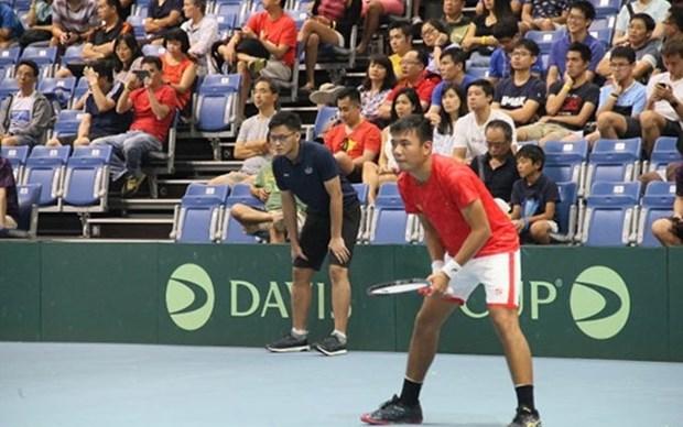 Participa la seleccion de tenis vietnamita en ronda de play-off de la Copa Davis hinh anh 1