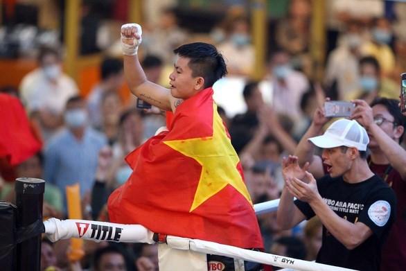 Boxeadora vietnamita gana por primera vez cinturon de Asia-Pacifico hinh anh 1