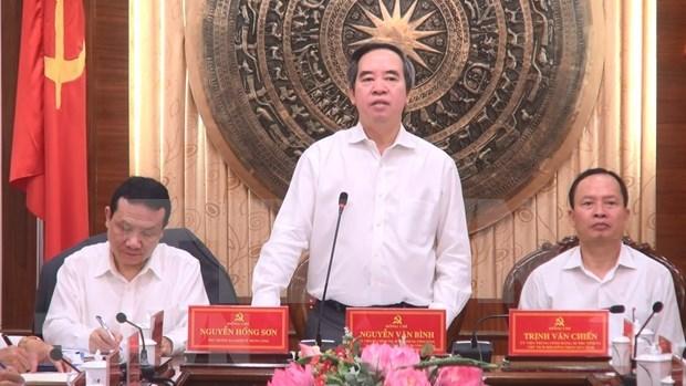 Provincia vietnamita de Thanh Hoa proyecta impulsar desarrollo de region central hinh anh 1