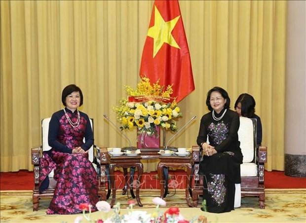 Elogia vicepresidenta de Vietnam actividades del Grupo de Mujeres de Comunidad de ASEAN hinh anh 1