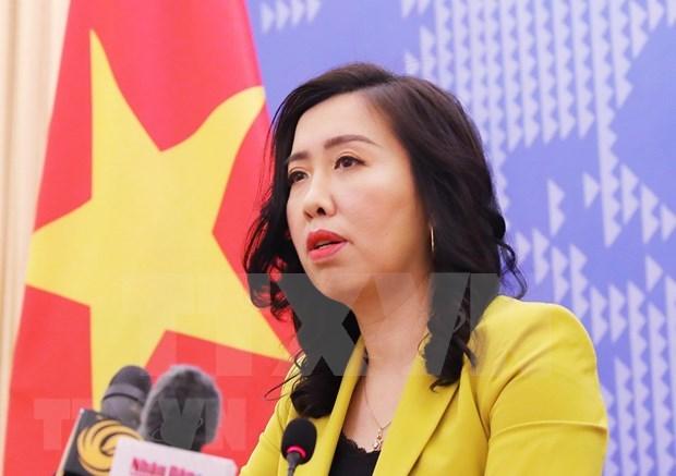 Visita de buques estadounidenses a Vietnam impulsa nexos bilaterales, afirma la portavoz de Cancilleria hinh anh 1