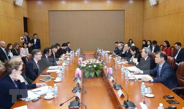 Dirigente partidista de Vietnam recibe a delegacion del Consejo Empresarial Estados Unidos - ASEAN hinh anh 1