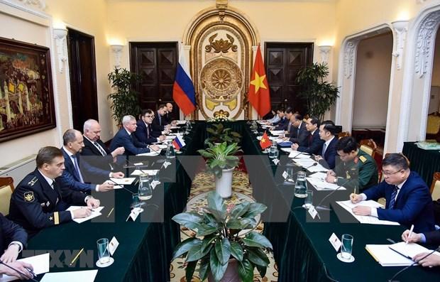 Efectuan Vietnam y Rusia dialogo estrategico en diplomacia, defensa y seguridad hinh anh 1