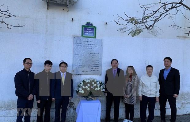 Embajada vietnamita rinde homenaje postumo a periodistas argelinos hinh anh 1