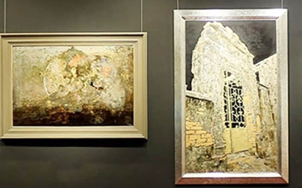 Deleita exposicion de pinturas de laca al publico de Hanoi hinh anh 1