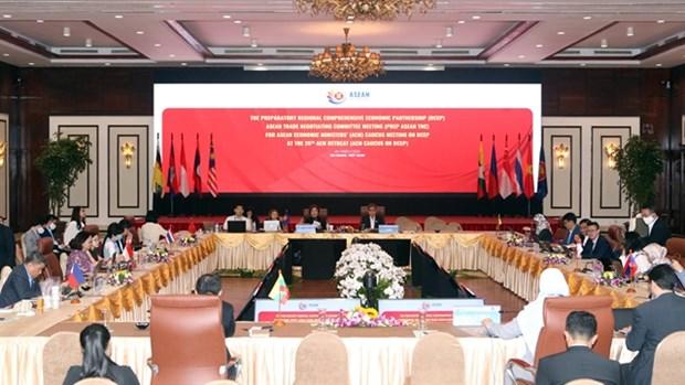 Sesiona en Vietnam reunion de ASEAN sobre asociacion economica regional hinh anh 1