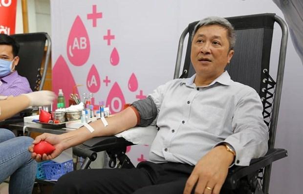 Ministerio de Salud de Vietnam convoca donacion de sangre entre trabajadores hinh anh 1