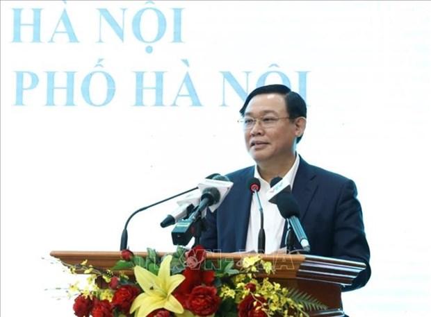 Repasan logros del Comite partidista de Hanoi a 90 anos de su fundacion hinh anh 1