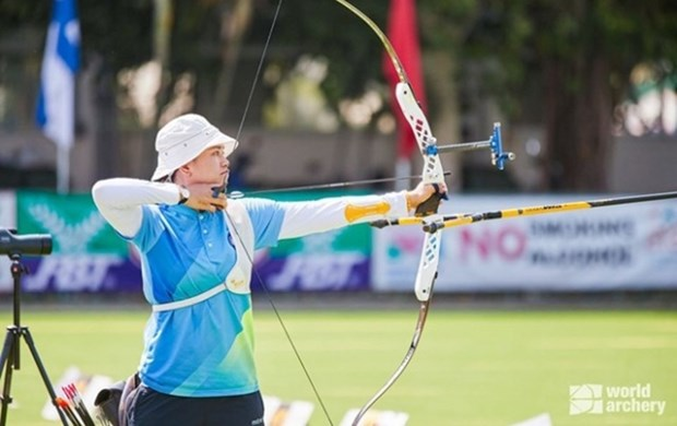 Vietnam cosecha tres oros en campeonato asiatico de tiro con arco hinh anh 1