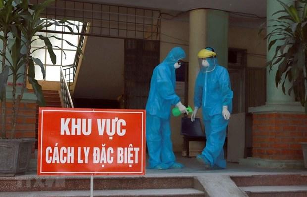Refutan informaciones falsas de sobrecarga en areas de cuarentena de Hanoi hinh anh 1