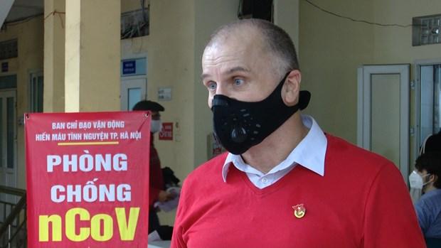 Extranjero residente en Vietnam promueve donacion de sangre hinh anh 1