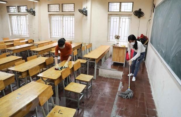 Suspension de actividades escolares en Hanoi se prolongara hasta abril proximo hinh anh 1